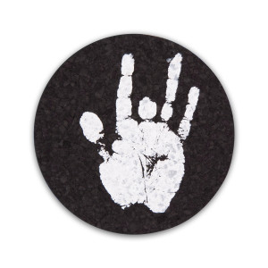 Jerry Garcia Handprint Recycled Rubber Coasters