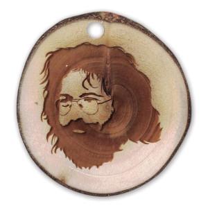 Jerry Garcia Reclaimed Wood Aspen Ornament