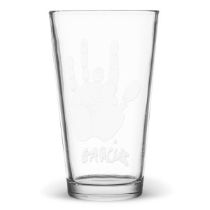 Jerry Garcia Hand Print Pint Glass