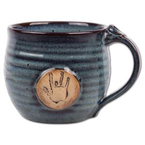Jerry Garcia Handprint Stoneware Mug