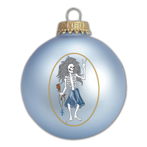 Jerry Garcia Rosebud Glass Ornament