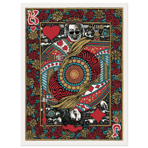 Jerry Garcia King Of Hearts Limited Edition Poster