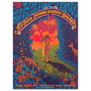 Jerry Garcia Symphonic Celebration Holmdel 2016 Event Poster