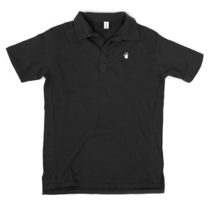 Jerry Garcia Handprint Organic Polo Shirt in Black