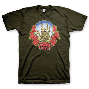 Jerry Garcia Rose Wreath Organic T-Shirt