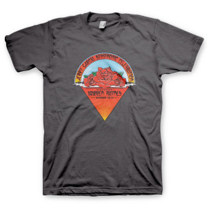Jerry Garcia Symphonic Celebration Summer 2014 Tour Men's T-shirt (Charcoal)