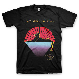 Cats Under the Stars Organic T-Shirt