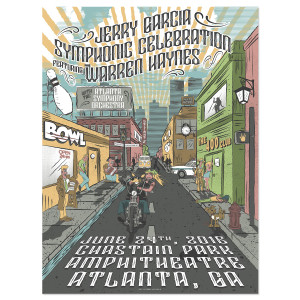 Jerry Garcia Symphonic Celebration featuring Warren Haynes Atlanta Event Poster