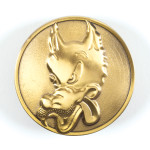 Wolf Brass Belt Buckle