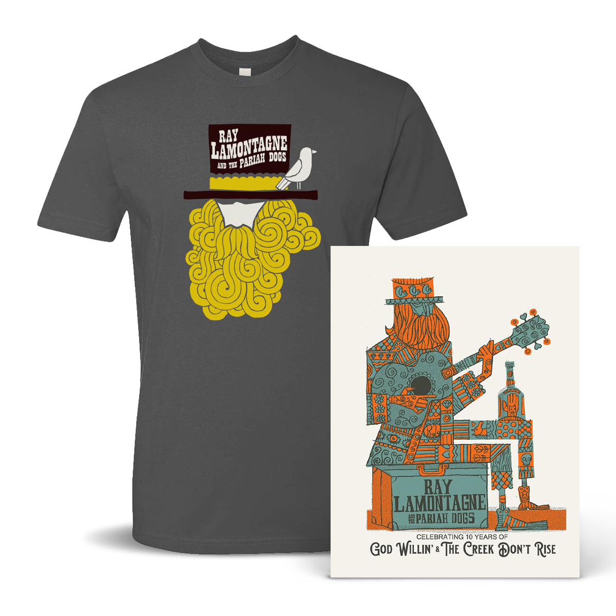Ray LaMontagne and the Pariah Dogs T-Shirt + Poster