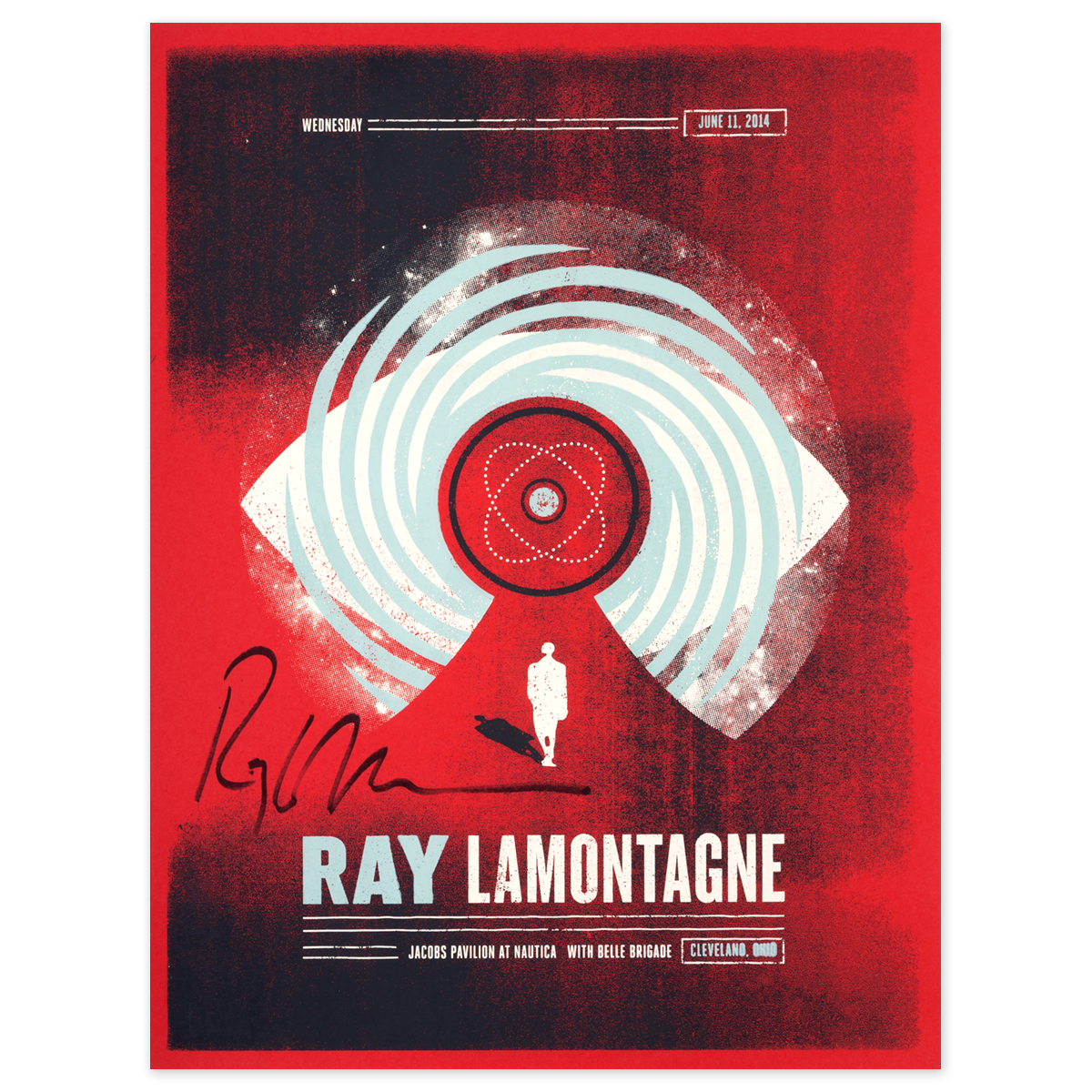 Ray LaMontagne 2014 Cleveland, OH Event Poster Signed