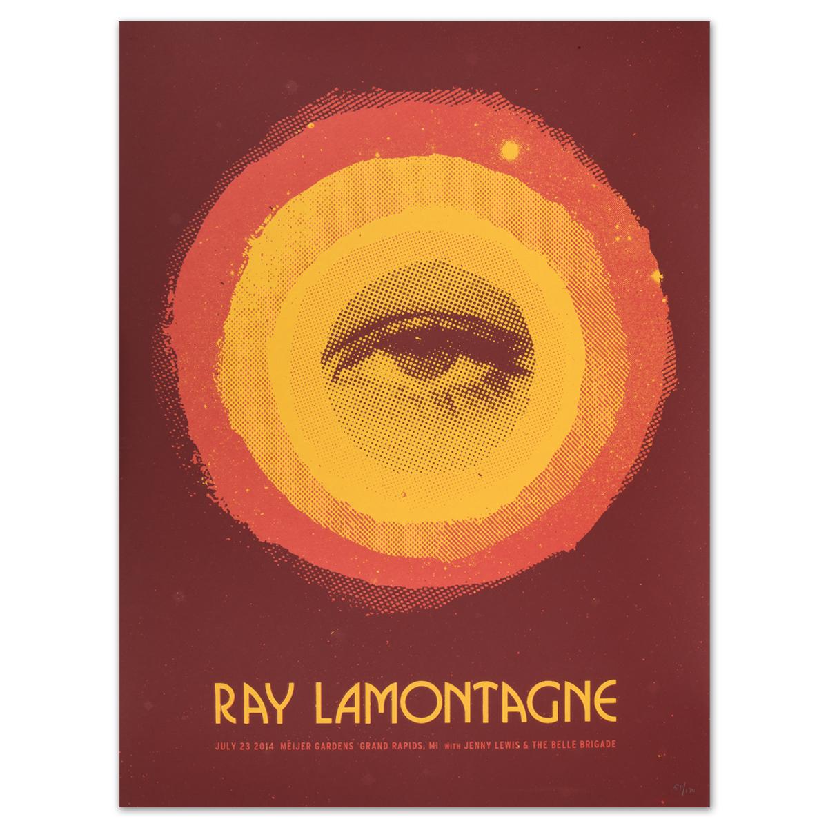 Ray LaMontagne 2014 Grand Rapids, MI Event Poster