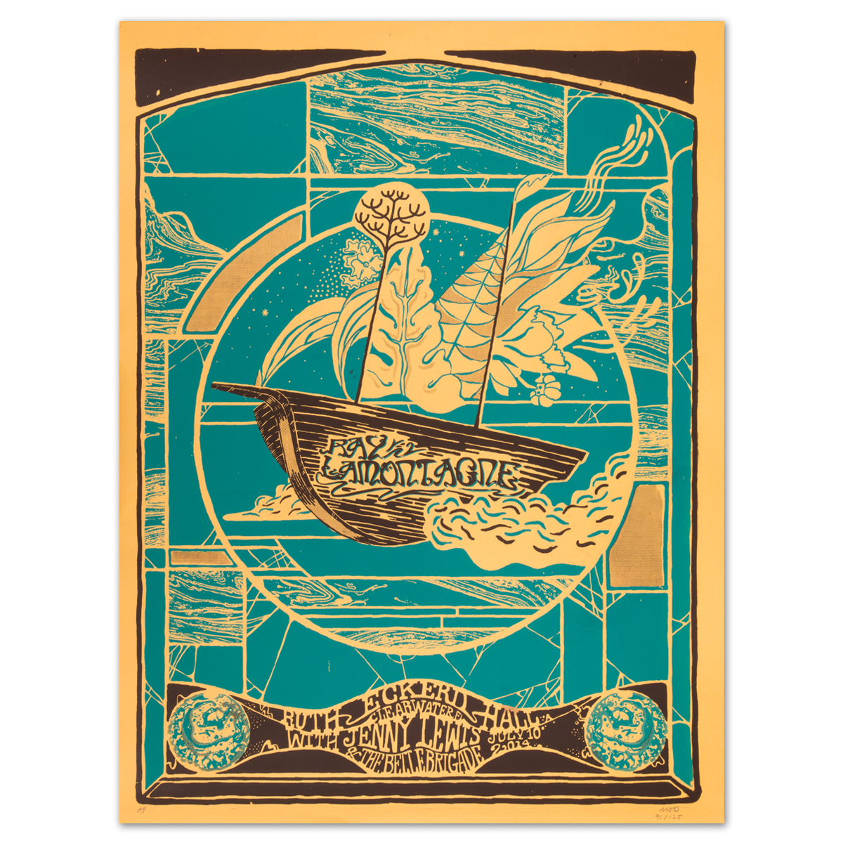 Ray LaMontagne 2014 Clearwater, FL Event Poster
