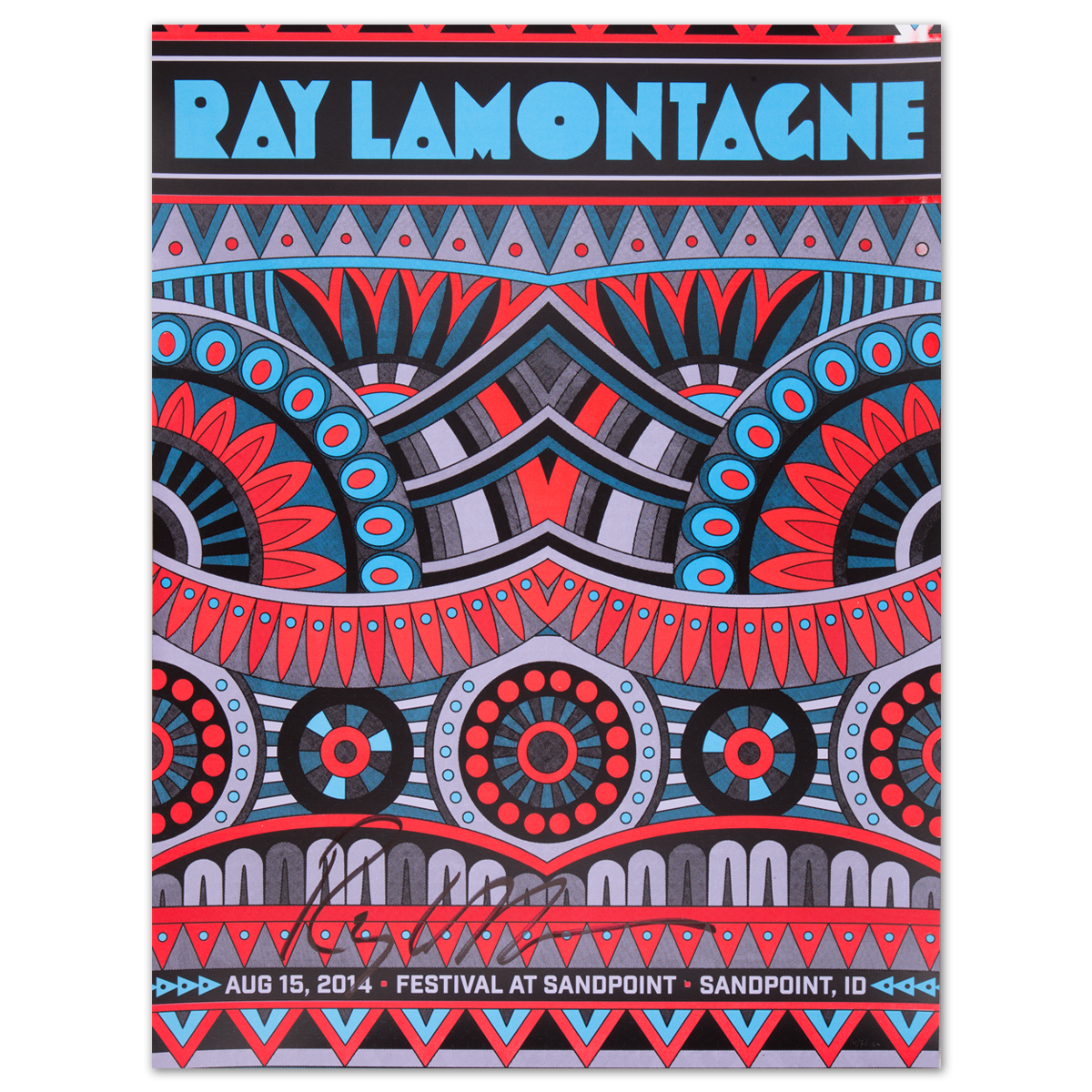 Ray LaMontagne 2014 Sandpoint, ID Event Poster (signed)