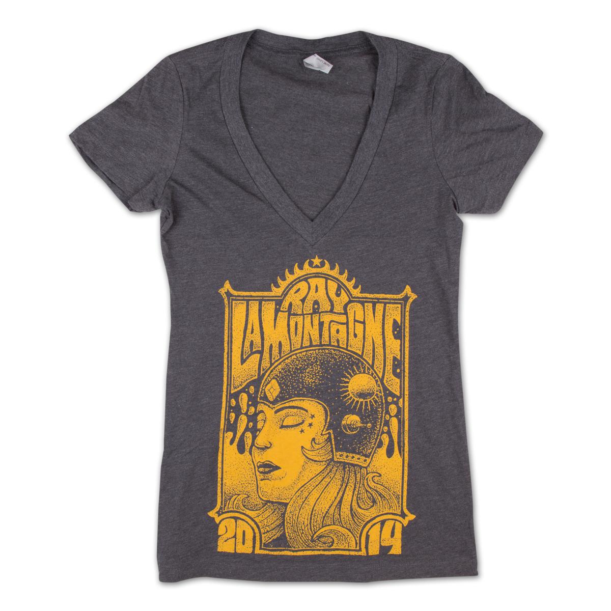 "Ray LaMontagne ""Airwaves"" Ladies V-Neck T-shirt"