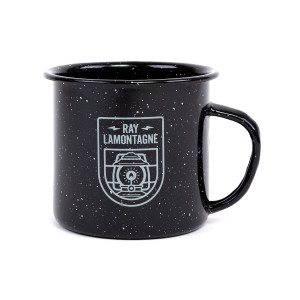 Part of The Light Tour Black Tin Mug