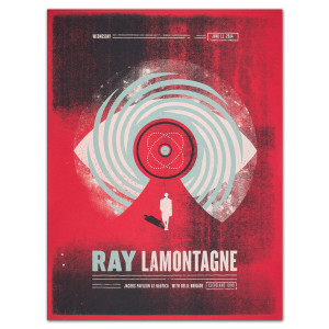 Ray LaMontagne 2014 Cleveland, OH Event Poster