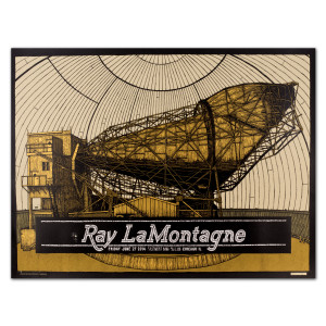 Ray LaMontagne 2014 Chicago, IL Event Poster