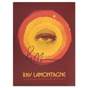 Ray LaMontagne 2014 Grand Rapids, MI Event Poster Signed