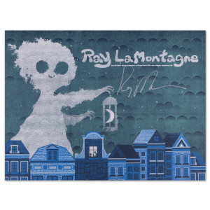 Ray LaMontagne 2014 Interlochen, MI Event Poster Signed