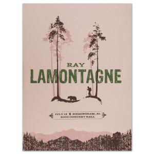 Ray LaMontagne 2014 Birmingham, AL Event Poster
