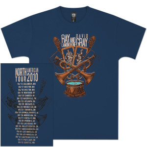 Ray LaMontagne Trumpets & Drums 2010 Blue Unisex Tour Tee