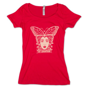 Ray LaMontagne Ladies Butterfly Scoop Neck