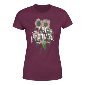 Ray LaMontagne Art Noveau Flowers Ladies T-Shirt