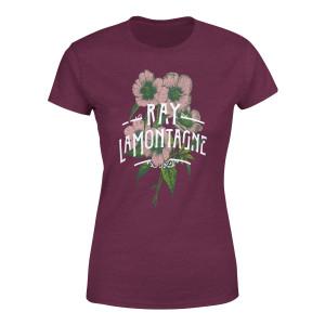 Ray LaMontagne Art Noveau Flowers Ladies T-Shirt
