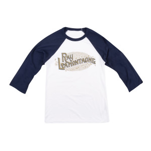 Ray LaMontagne White Long Sleeve Raglan T-shirt