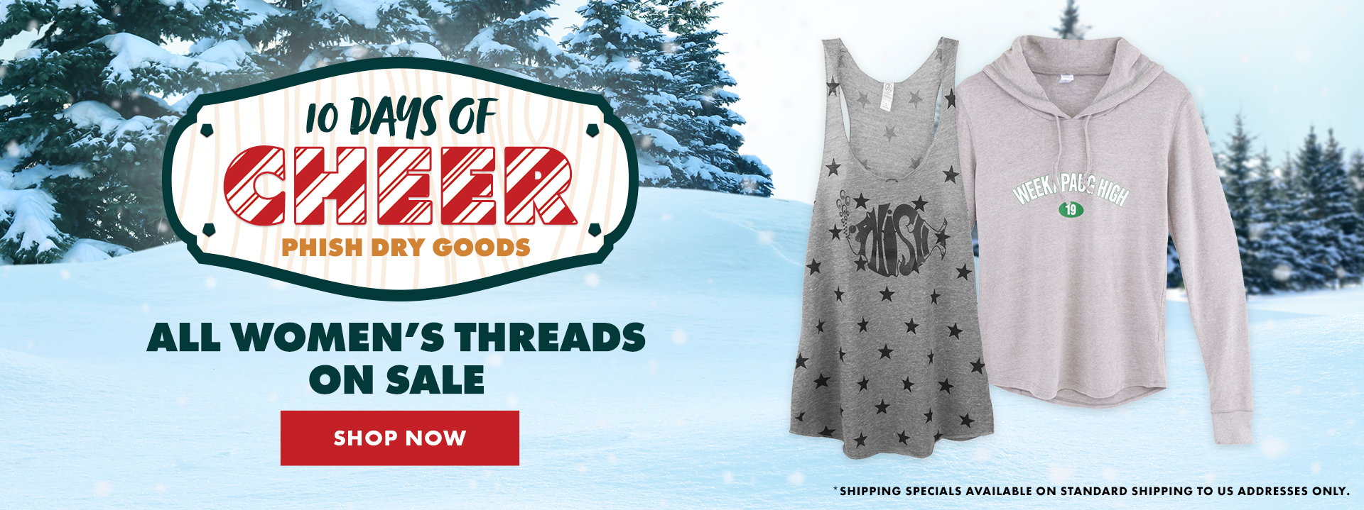 Women's Threads On Sale - Today Only at Phish Dry Goods!