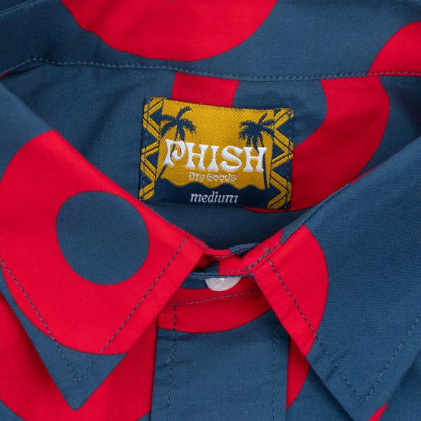 Blazin Donuts Phish Fishman Men/'s Button Up Collar Longsleeve Shirt Size L
