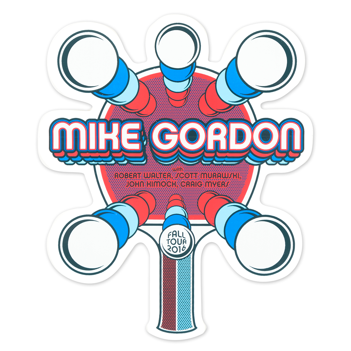 Mike Gordon Ping Pong Tour Sticker