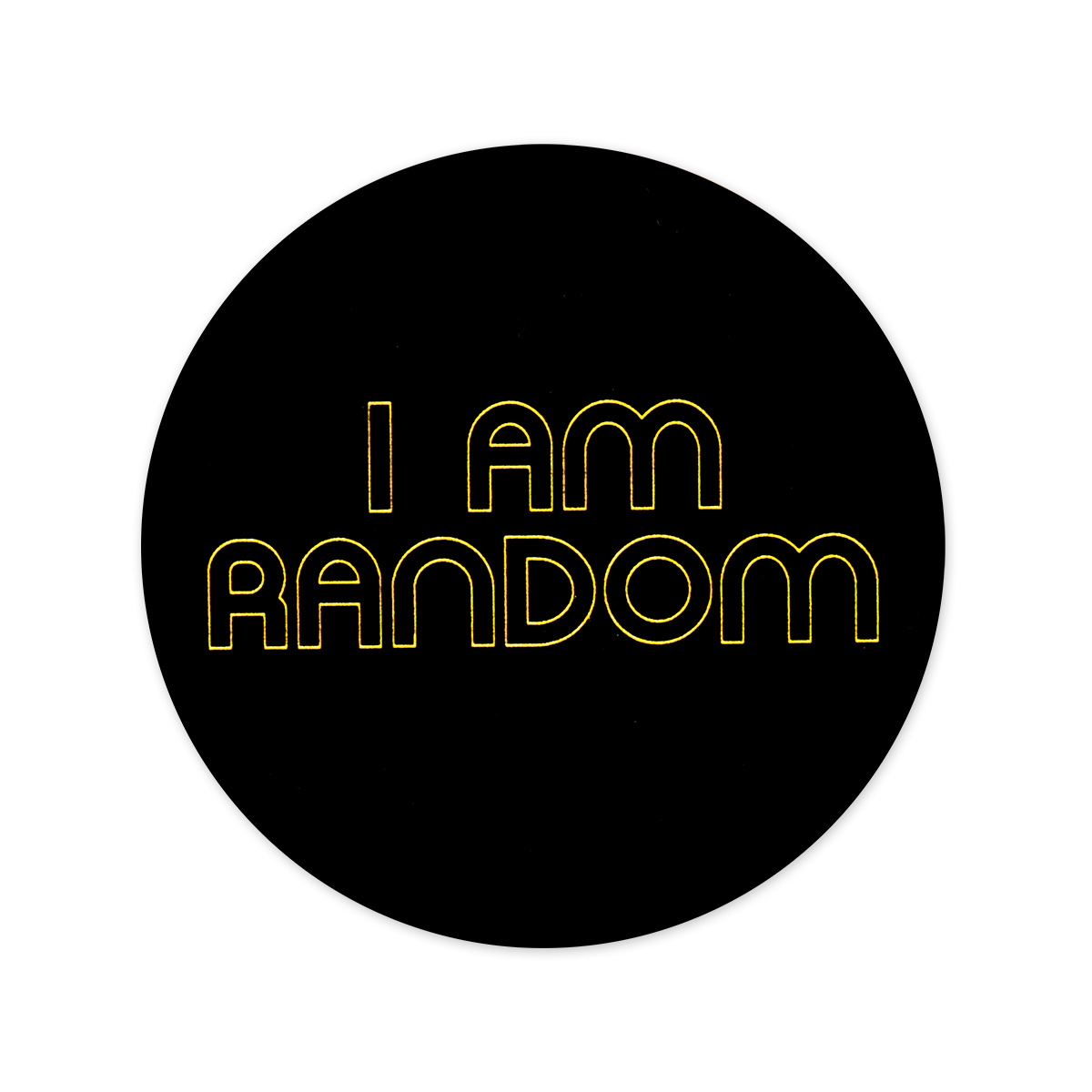 Mike Gordon I Am Random Round Sticker