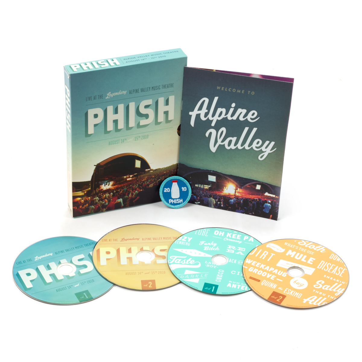 Phish Alpine Valley 2010 2-DVD/2-CD Box Set