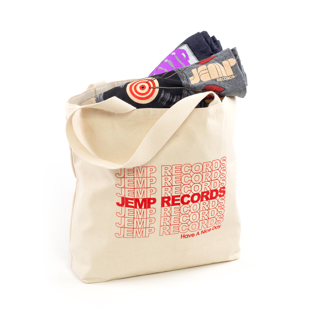 JEMP Records Have A Nice Day Tote Bag
