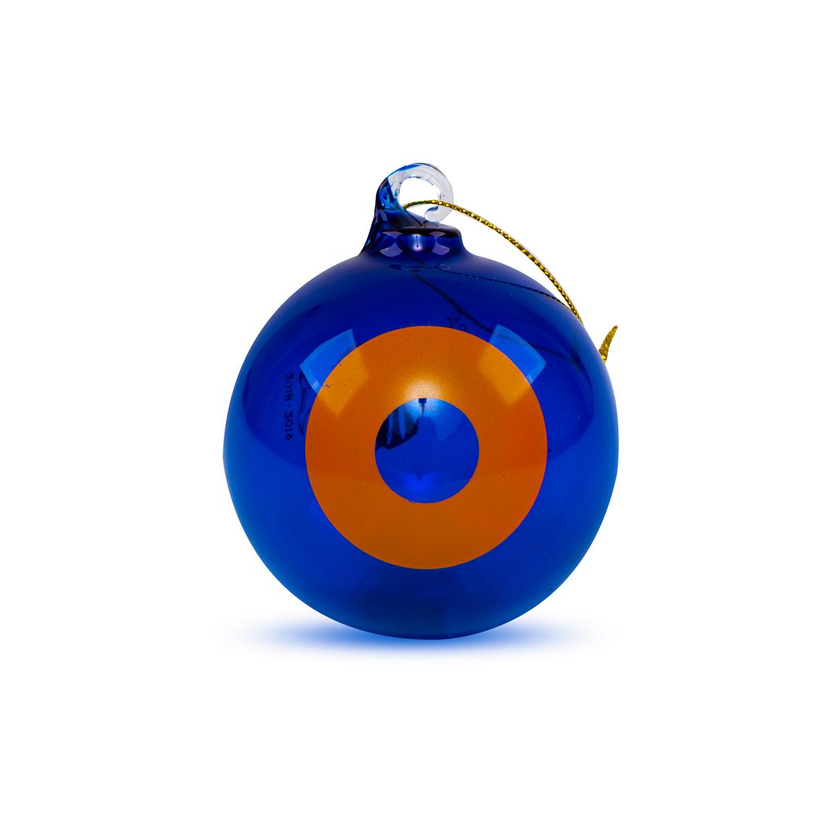 NYE 2018 Run Donut Ornament in Orange/Blue