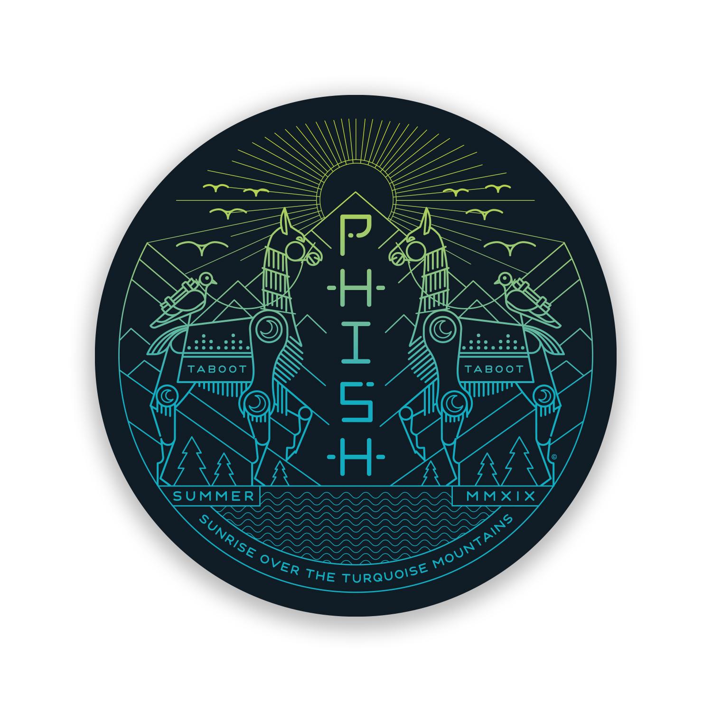 Llama Sunrise Summer 2019 Tour Gradient Sticker