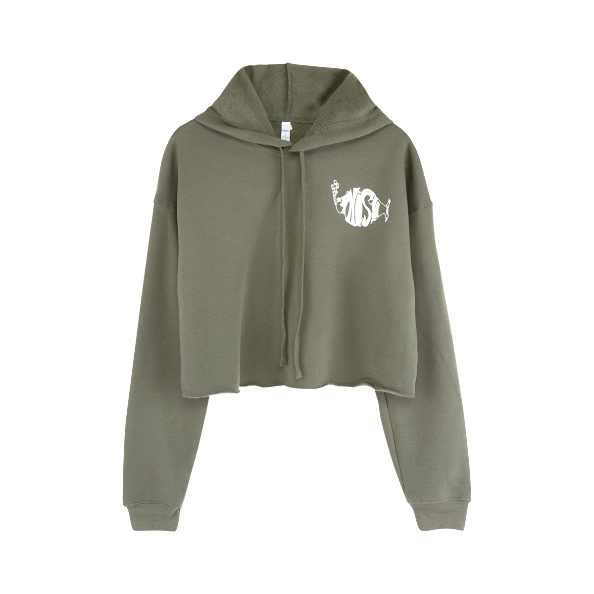 Ladies Liz Cropped Classic Logo Fleece Hoodie