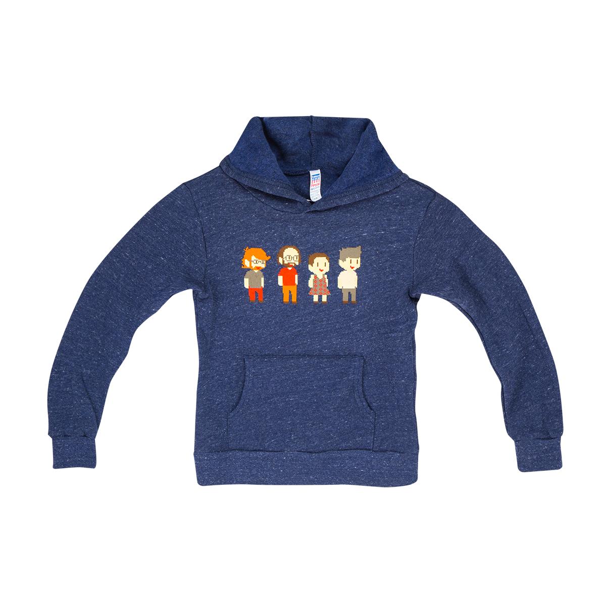 Kids Pixel Band Pullover Hoodie