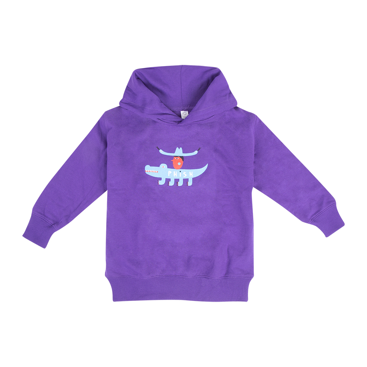 Kids Cowboy Gator Pullover Hoodie on Purple