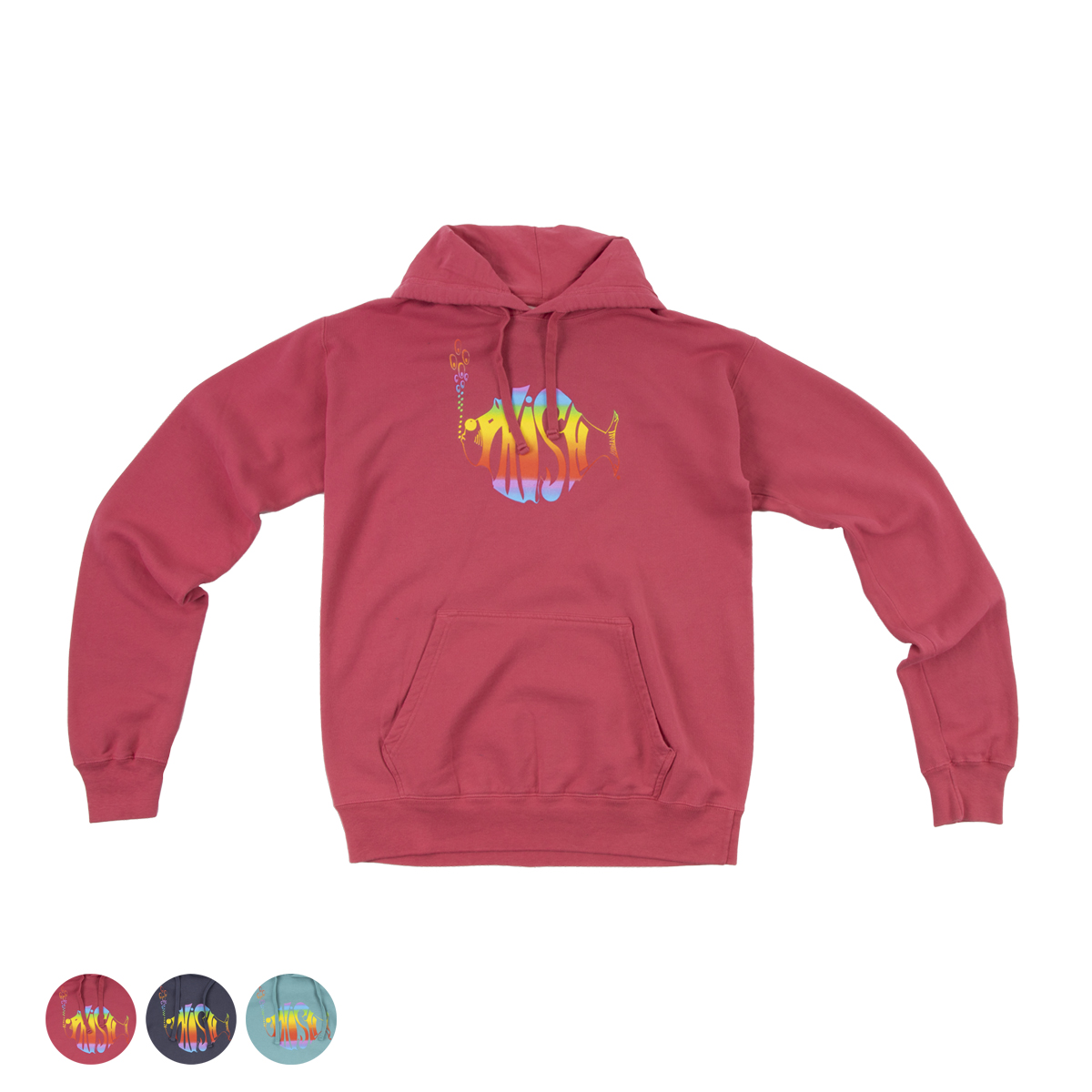 Classic Rainbow Heavyweight Washed Pullover Hoodie