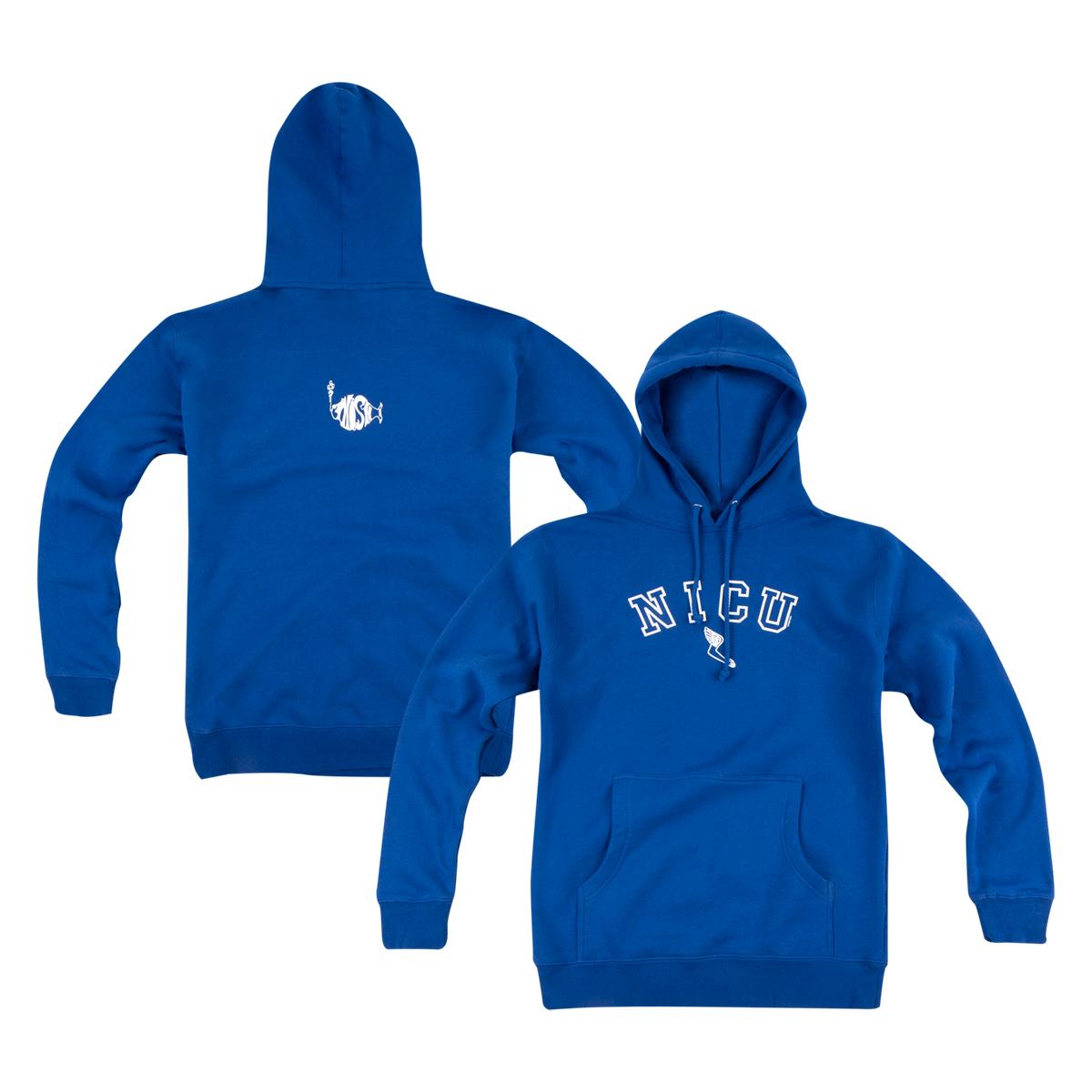 NICU Heavyweight Pullover Hoodie on Royal Blue