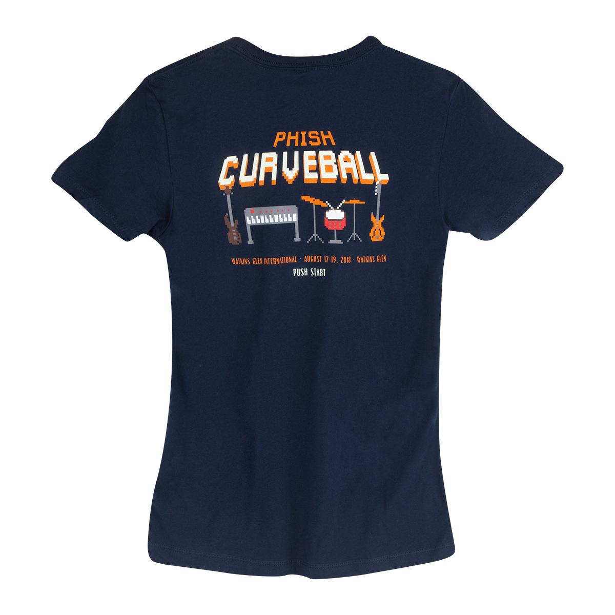 Women's Curveball Pixel Tee on Midnight Navy