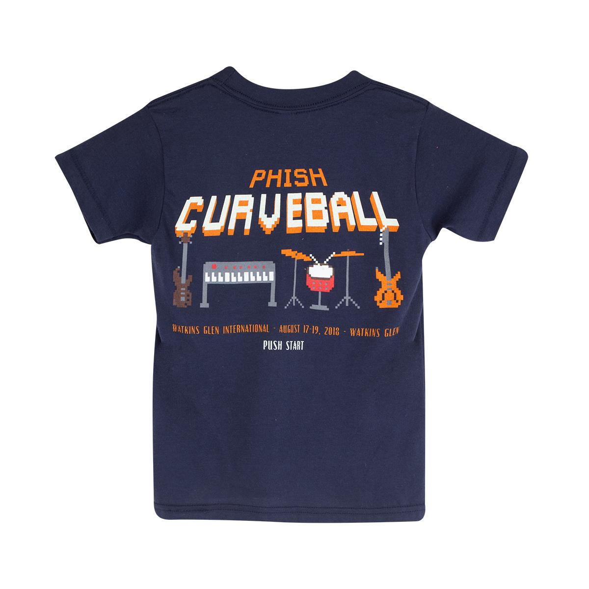 Kid's Curveball Pixel on Navy