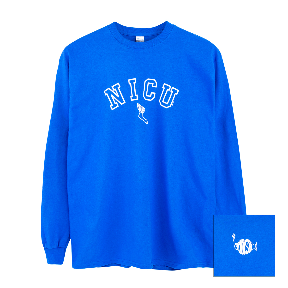 NICU Longsleeve Tee on Royal Blue