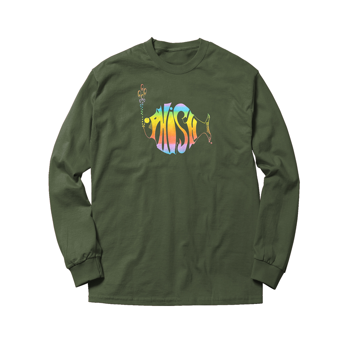 Classic Rainbow Heavyweight Washed Longsleeve Tee