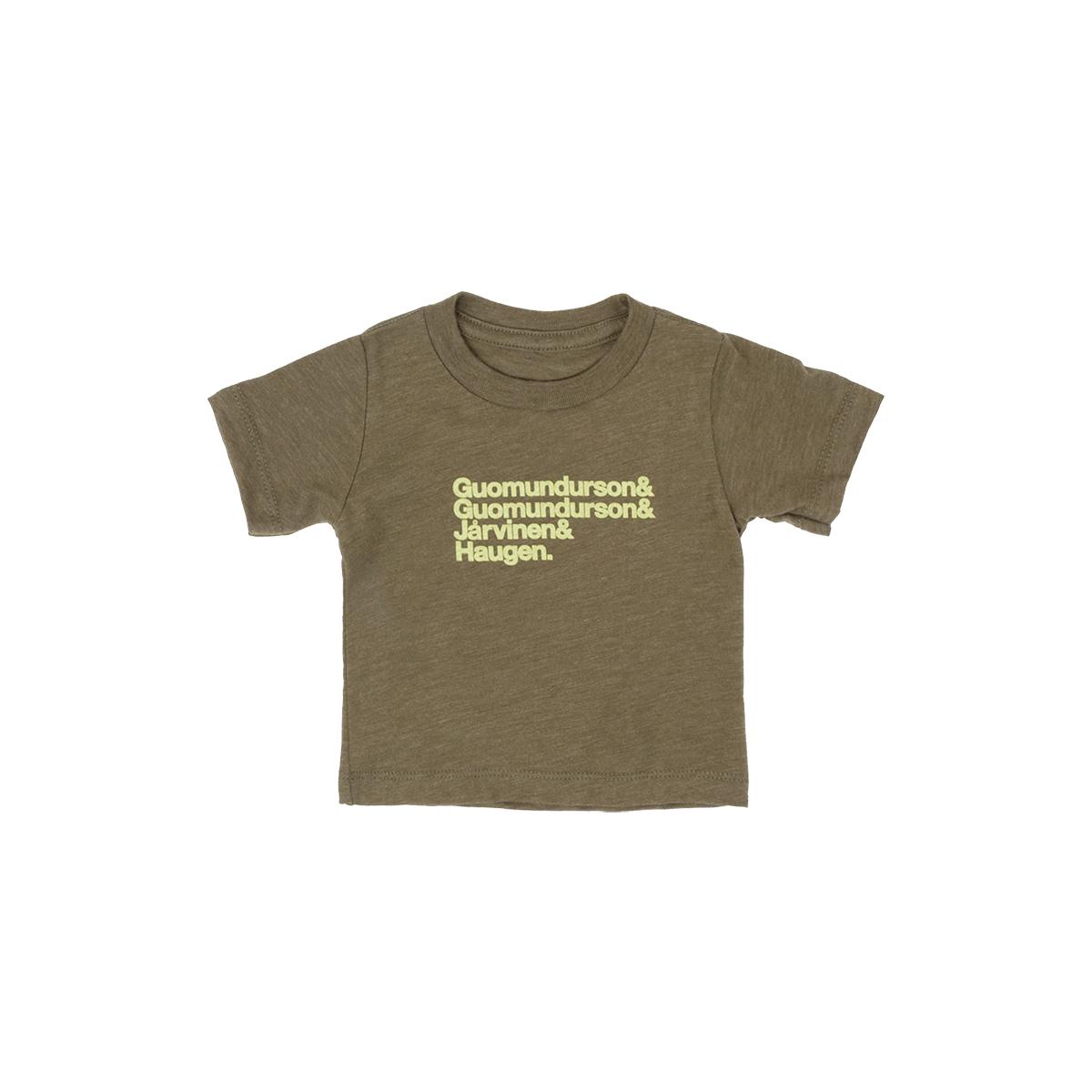 Kasvot Vaxt Nomenclature Baby Tee on Olive
