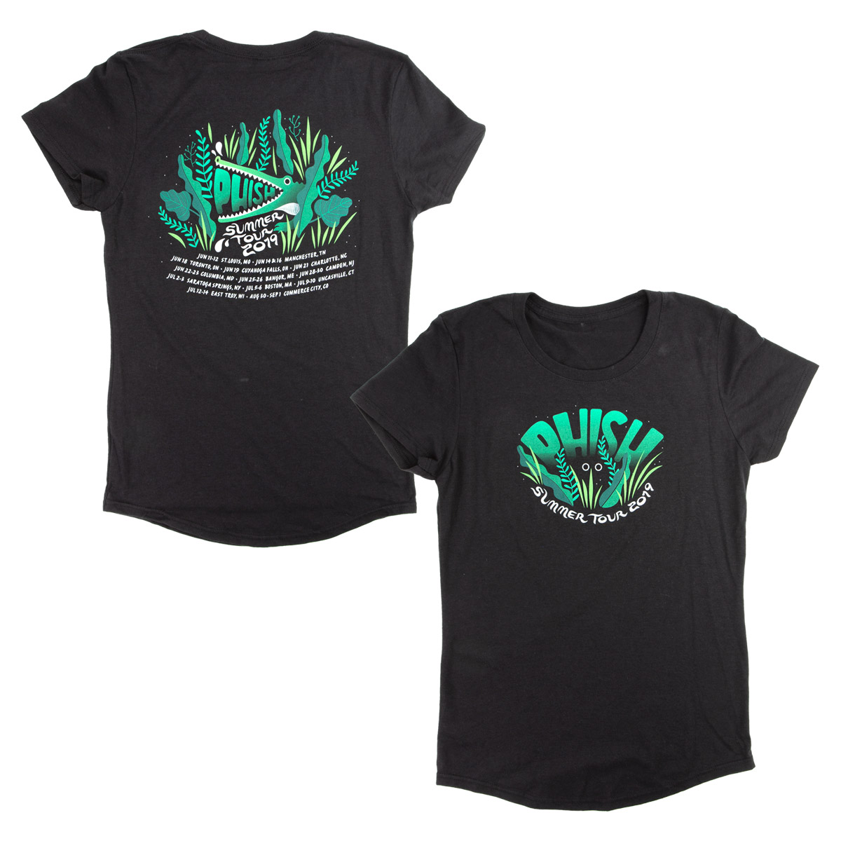 2019 Summer Tour Womens Swampy Triblend Scoopneck T-shirt