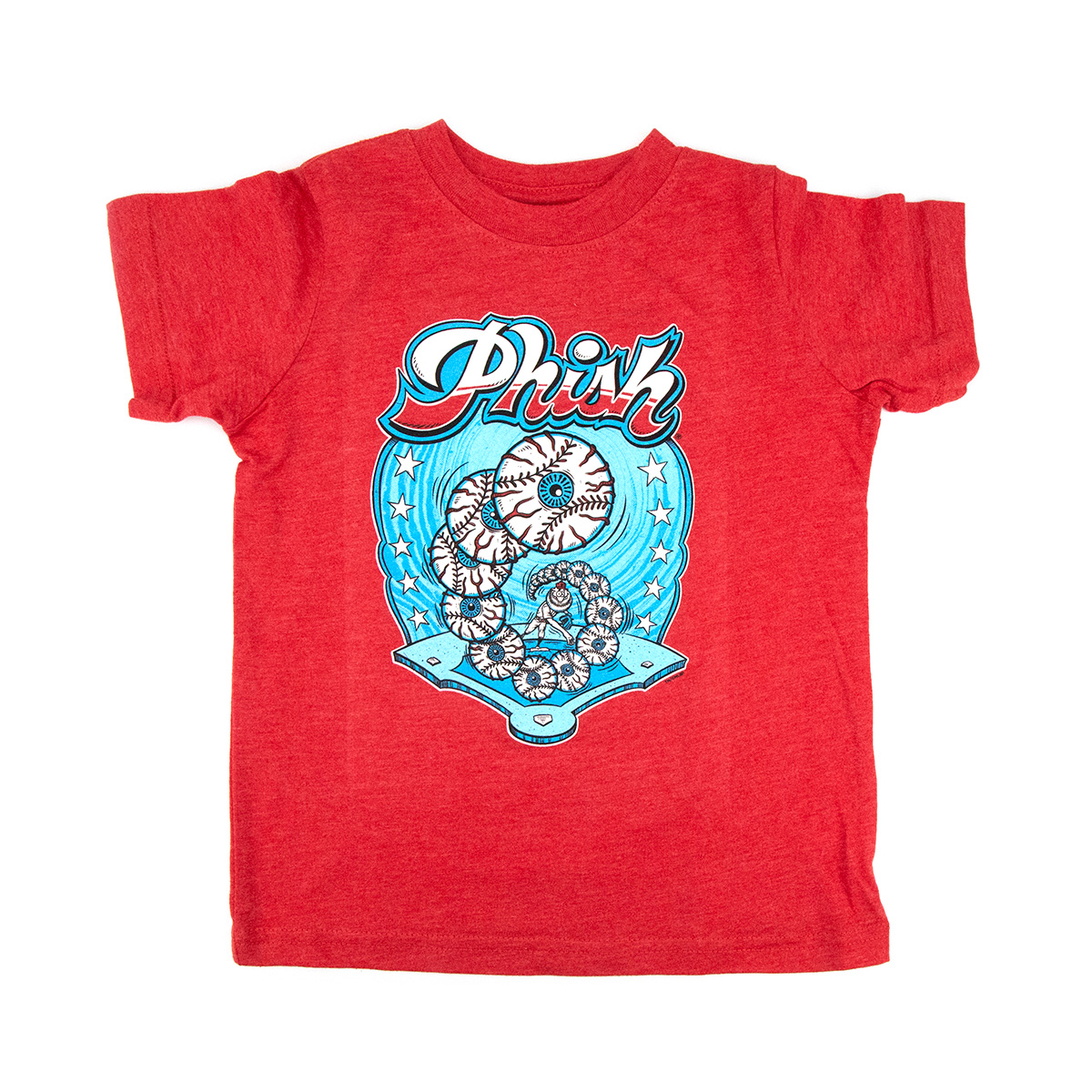 Kid's Good Eye Pitcher T-Shirt on Vintage Red